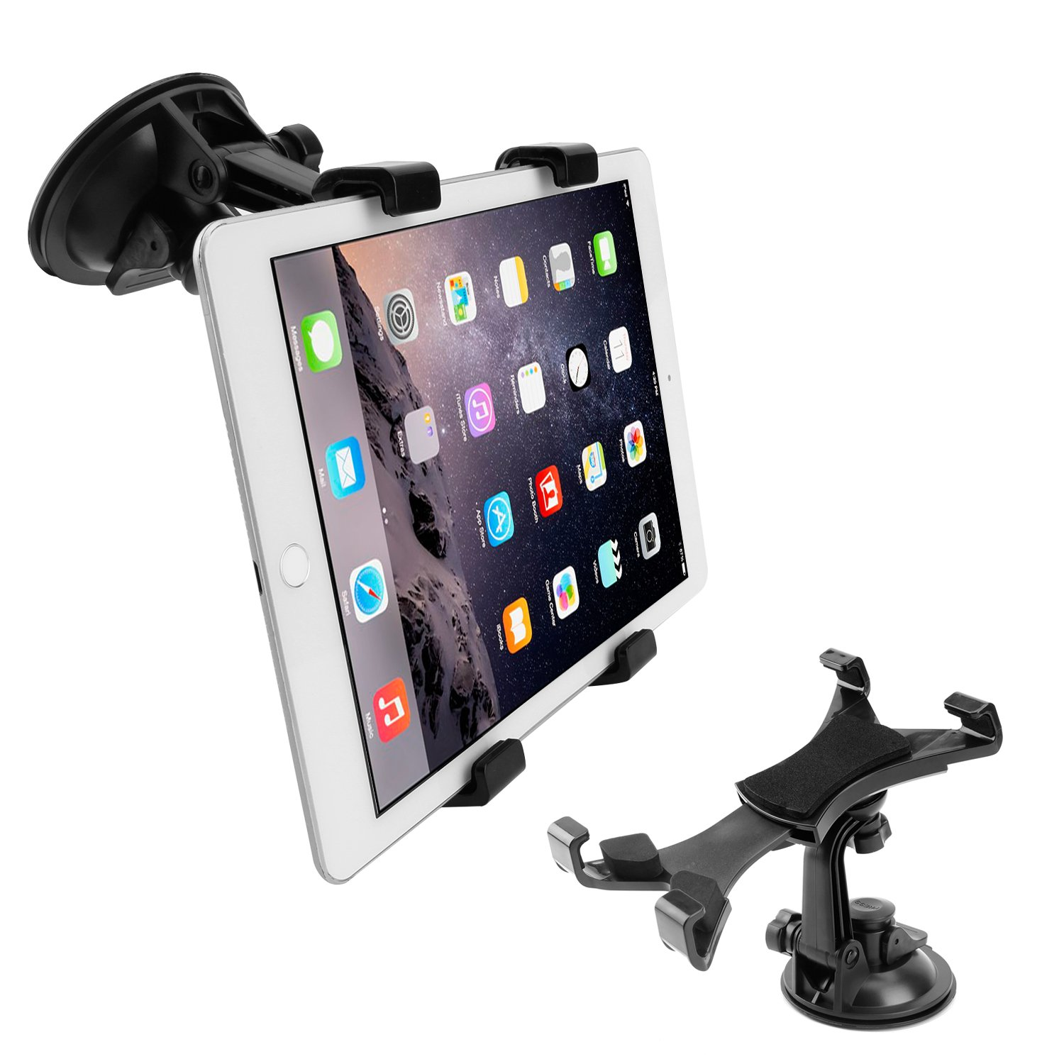 BEDEE Car Tablet Mount Holder, Car Dash Tablet Mount Holder Silicone Suction Cup for Car Windshield Dashboard for 7-10 Inch Screen Tablet 360 Degree Rotation for iPad Mini 4/3/2/1,Samsung Galaxy Tab
