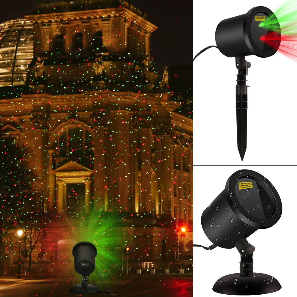 Waterproof laser christmas lights decorations redgreen blinking waterproof laser christmas lights decorations redgreen blinking landscape star spotlights outdoor light for wallgardenyardpatio decoration family aloadofball Gallery