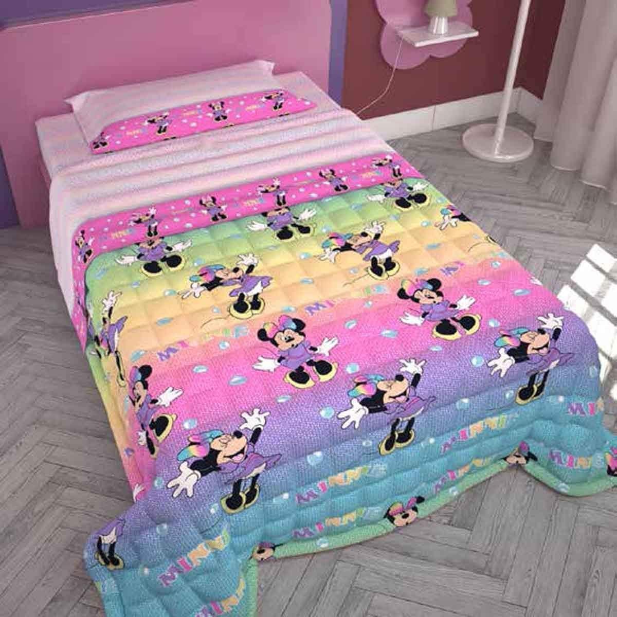 Trapunta Estiva Singola Disney.G C Enterprise Copriletto Trapuntato Disney Minnie Pois 1 Piazza E Mezza Amazon It Casa E Cucina