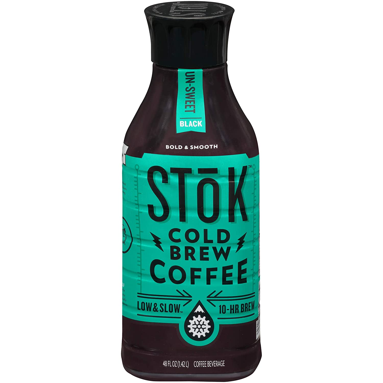SToK Cold-Brew Iced Coffee, Unsweetened, 48 Ounce, 6 Count
