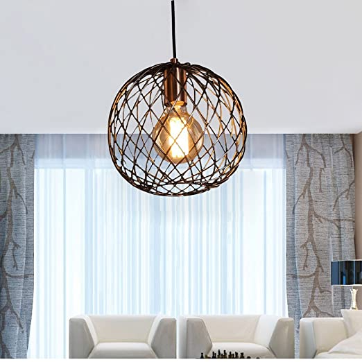 metallic pendant lighting design discoveries. FOSHAN MINGZE Retro Industrial Round Cage Pendant Light Copper Finished Metal Ceiling Hanging Metallic Lighting Design Discoveries