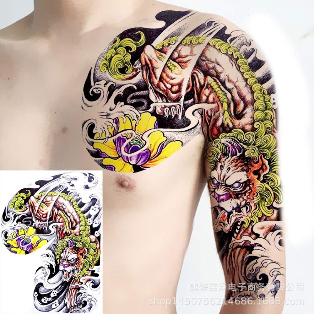 Handaxian Nueva Mitad de Las Pegatinas de Tatuaje ...