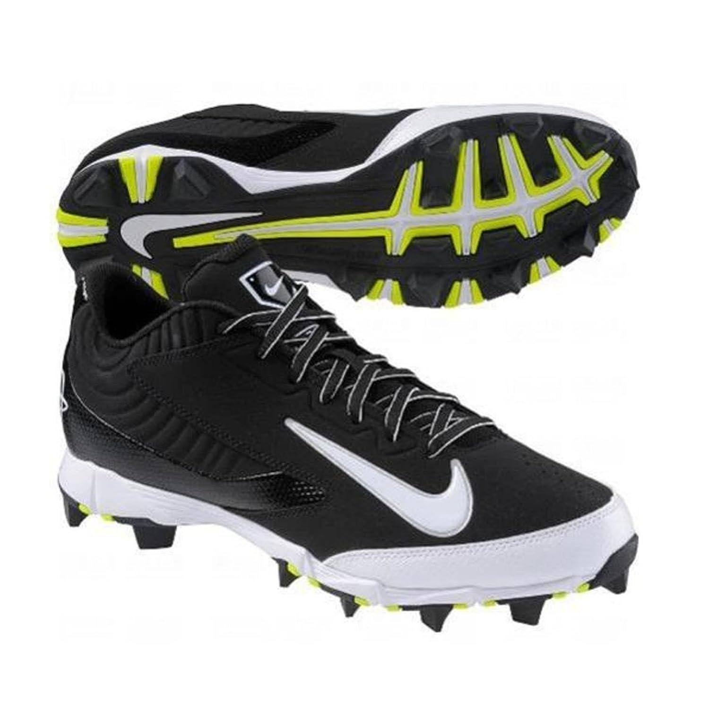 Amazon.com | NIKE HUARACHE KEYSTONE LOW GS BLACK/WHITE YOUTH MOLDED BASEBALL  CLEATS 6Y | Baseball \u0026 Softball