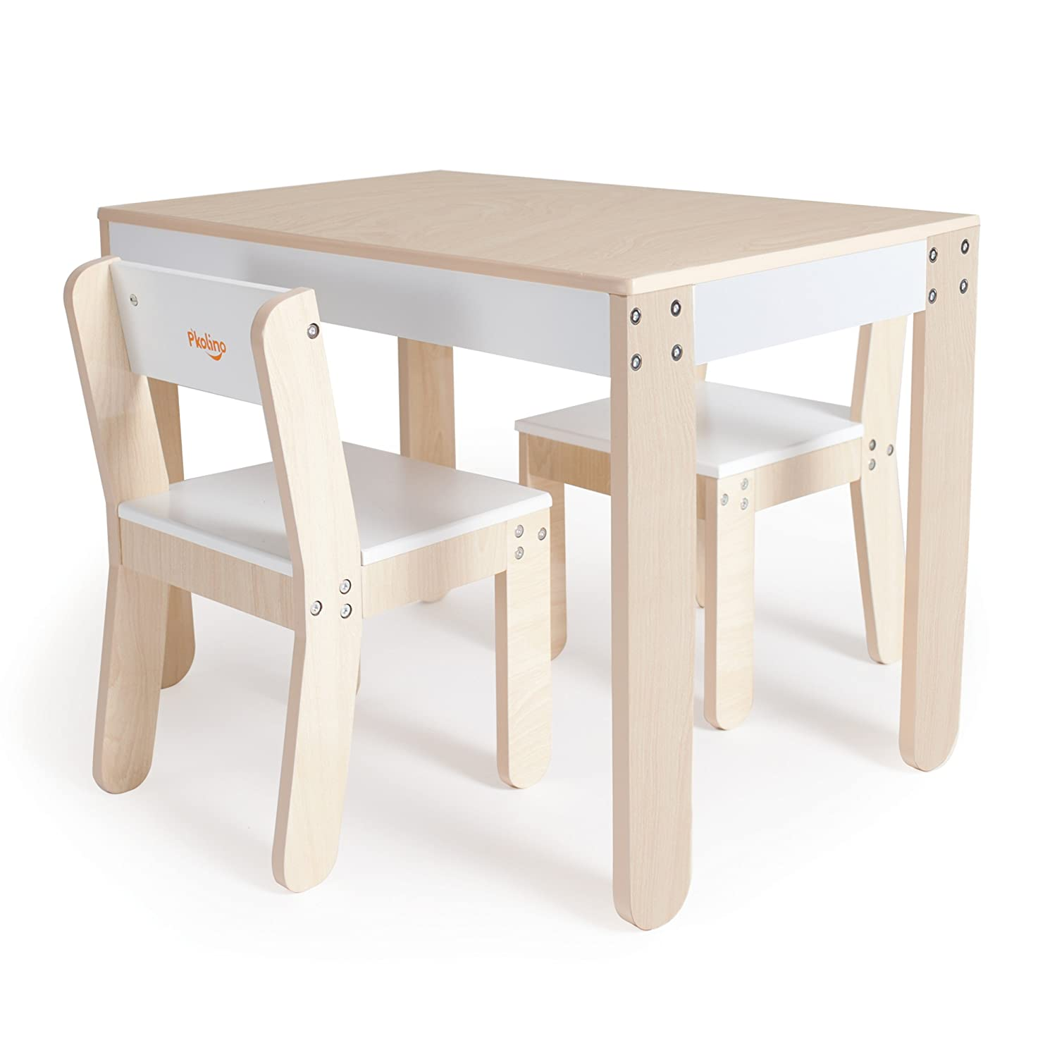 Amazon.com : P\'kolino Little One\'s Table and Chairs, White : Nursery ...