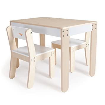 Amazoncom Pkolino Little Ones Table And Chairs White - Nursery tables and chairs
