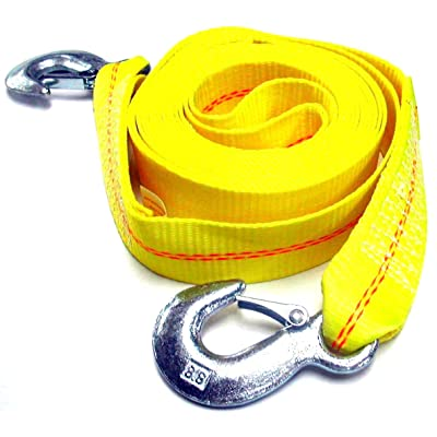 "Hardware Factory Store HFS (R) 2"" X 30', 4.5 Ton 2 Inch X 30 Ft. Polyester Tow Strap Rope 2 Hooks 10,000lb Towing Recovery: Automotive"