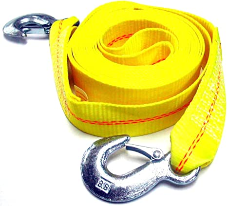 Polyester Tow Strap Rope 2 Hooks 10,000lb Towing Recovery Hardware Factory Store HFS R 2 X 30 4.5 Ton 2 Inch X 30 Ft