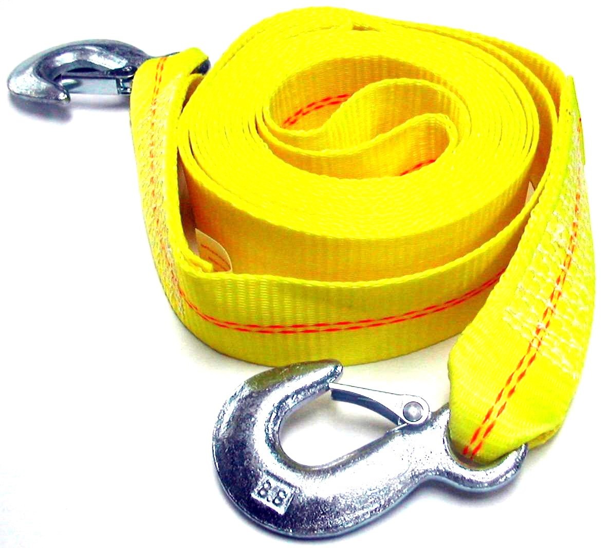 2 X 30 Hardware Factory Store HFS Polyester Tow Strap Rope 2 Hooks 10,000lb Towing Recovery 11599 R 4.5 Ton 2 Inch X 30 Ft