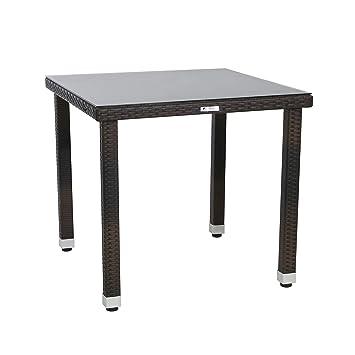 Amazon De Tisch Ejvind Esstisch Mit Glastischplatte