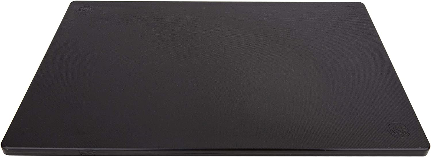 Poly Plastic Food Service Cutting Board, BPA Free, Dishwasher Safe (20 x 15 x 0.75 Inch, Black)