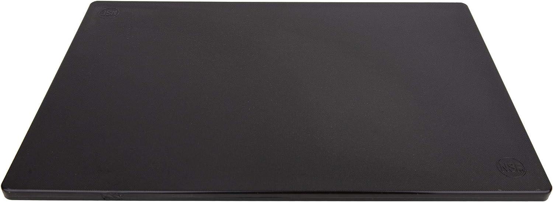 Poly Plastic Food Service Cutting Board, BPA Free, Dishwasher Safe (20 x 15 x 0.75 Inch, Black)
