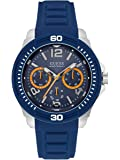Guess Tread Watch For Men - Analog, Rubber Strap - W0967G2, Blue Band