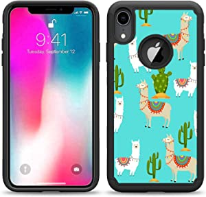 SunCases Hybrid Case for iPhone XR - Llama and Catus Hard Anti Scratch Resistance with Full Protection Cover