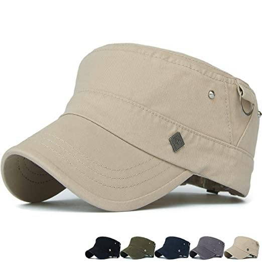 9f87561fd23c08 REDSHARKS Washed Cotton Cadet Cap Military Army Hat Various Style Hoop Stud  Rivet Khaki