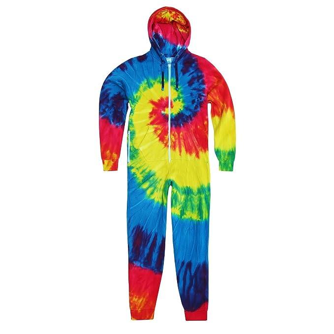 Colortone - Pijama de una pieza /mono con cremallera larga con diseño de arco iris teñido para niños: Amazon.es: Ropa y accesorios