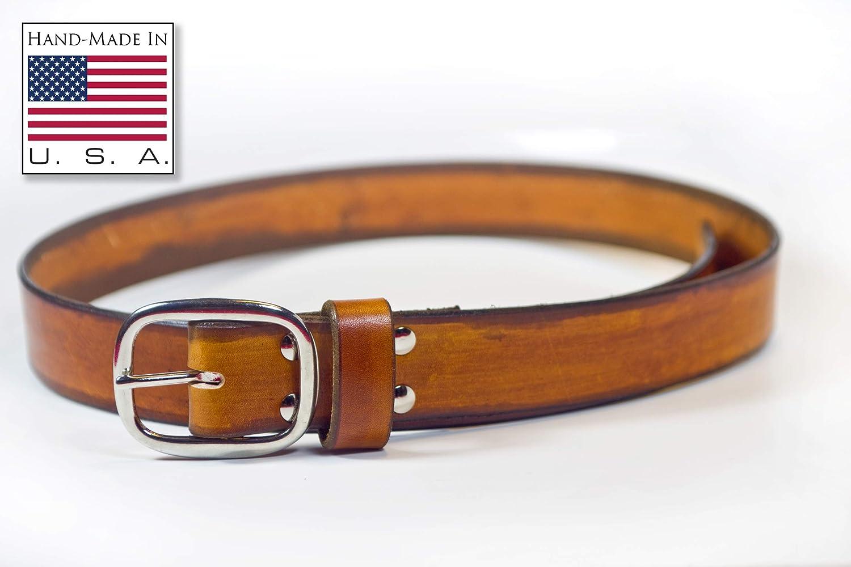 Leather Ax Belt Loop Handmade in USA Saddle Tan