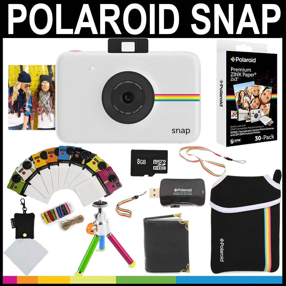 Polaroid Snap Sofortbildkamera + 2x3 Zink-Papier +: Amazon.de ...