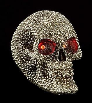 Luz cráneo Totenkopf LED Totenschädel Licht Deko Crâne LED skull light led