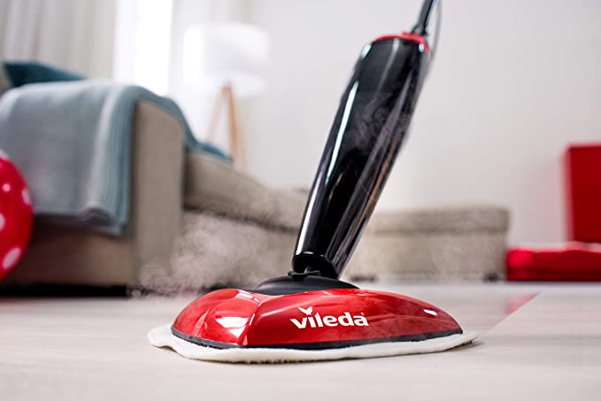 Vileda - Recambio de microfibras para mopa Vileda Steam, compatible con Steam 100 ºC, gran poder de desinfección sin químicos, 2 unidades, color blanco: Amazon.es: Hogar