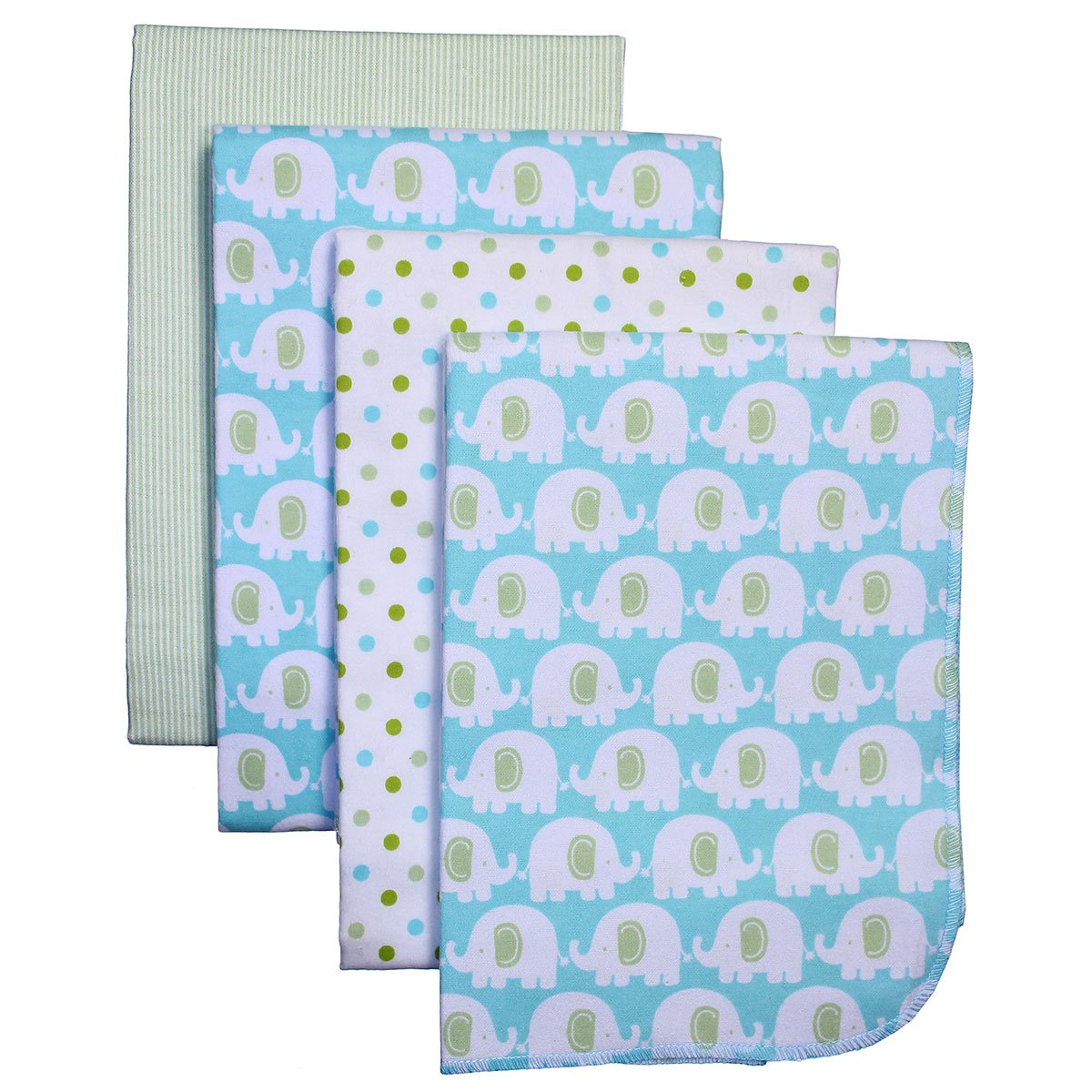 Carters Flannel Receiving Blankets Elephant Image 1