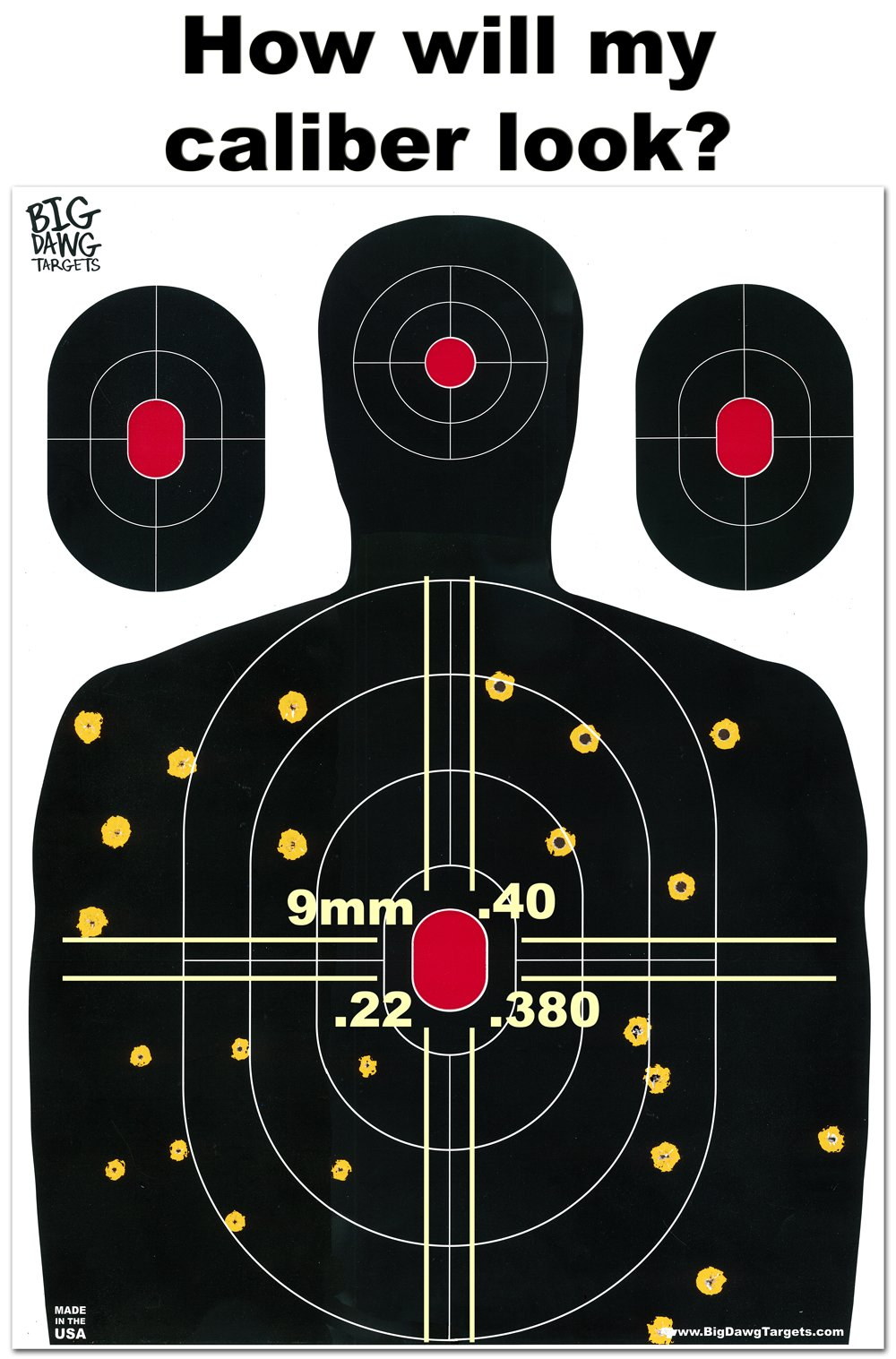 Big Dawg Targets - 18 X 24 Inch Silhouette Reactive Splatter Shooting Target - 25 Pack by Big Dawg Targets (Image #3)