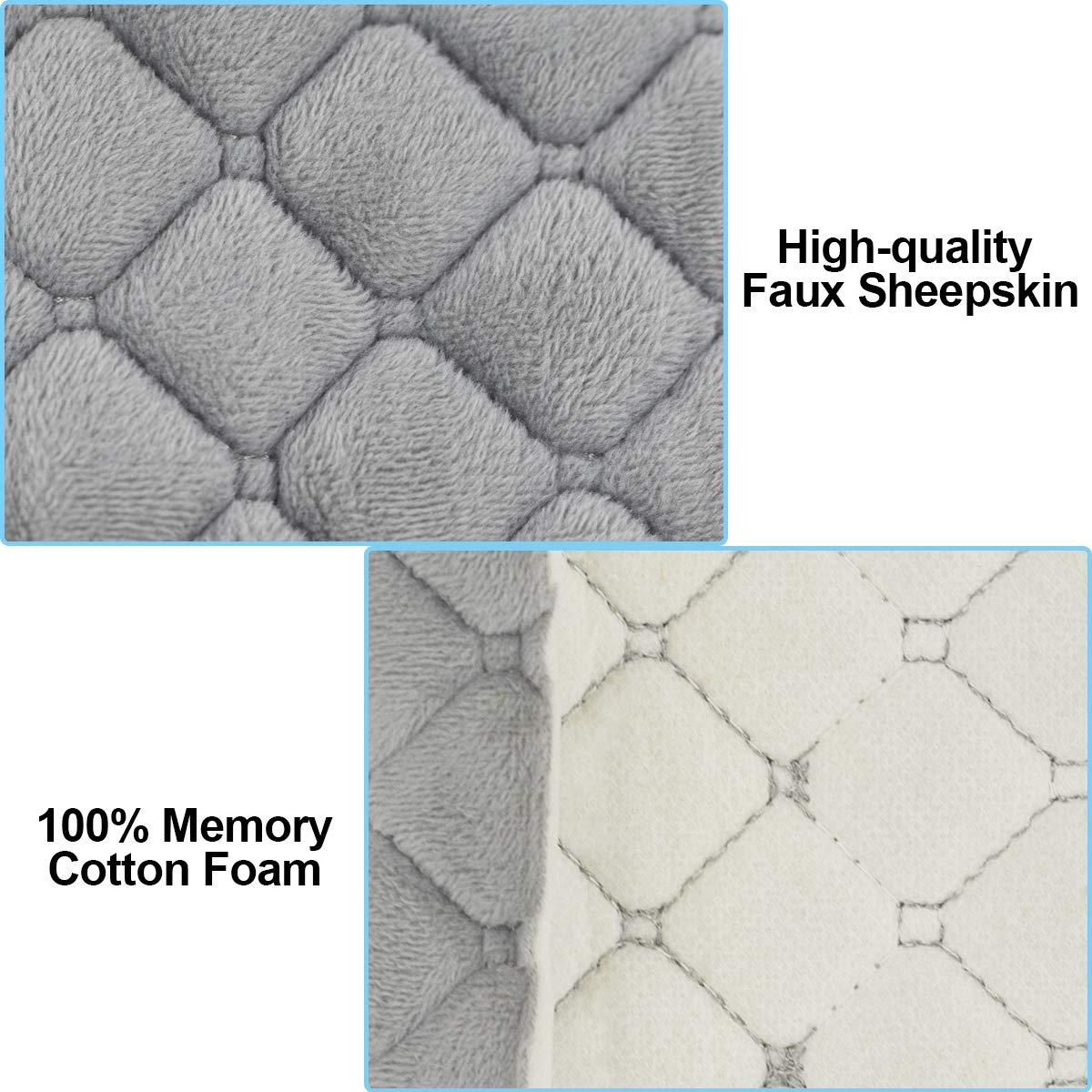 Stil-2, Grau Aitsite Gurtpolster Auto-sicherheitsgurt-pad-abdeckung 4-Pack Kopfst/ütze Nackenst/ütze Abdeckungen f/ür alle Auto-Sicherheitsgurt oder Bag Strap