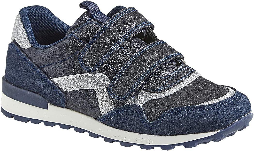 VERTBAUDET Zapatillas con Tiras autoadherentes Estilo Running, para niña Azul Oscuro Liso con Motivos 26: Amazon.es: Deportes y aire libre