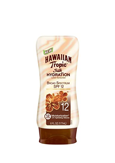 Hawaiian Tropic Sunscreen Silk Hydration Moisturizing Broad Spectrum Sun Care Sunscreen Lotion - SPF 12,