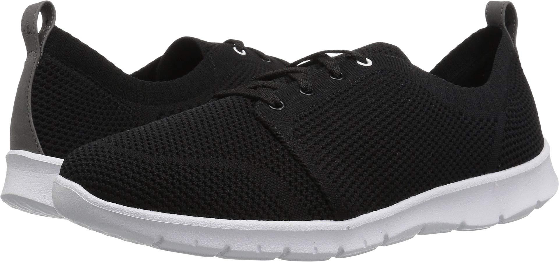 CLARKS Women's Step Allenasun Sneaker, Black Textile, 080 M US