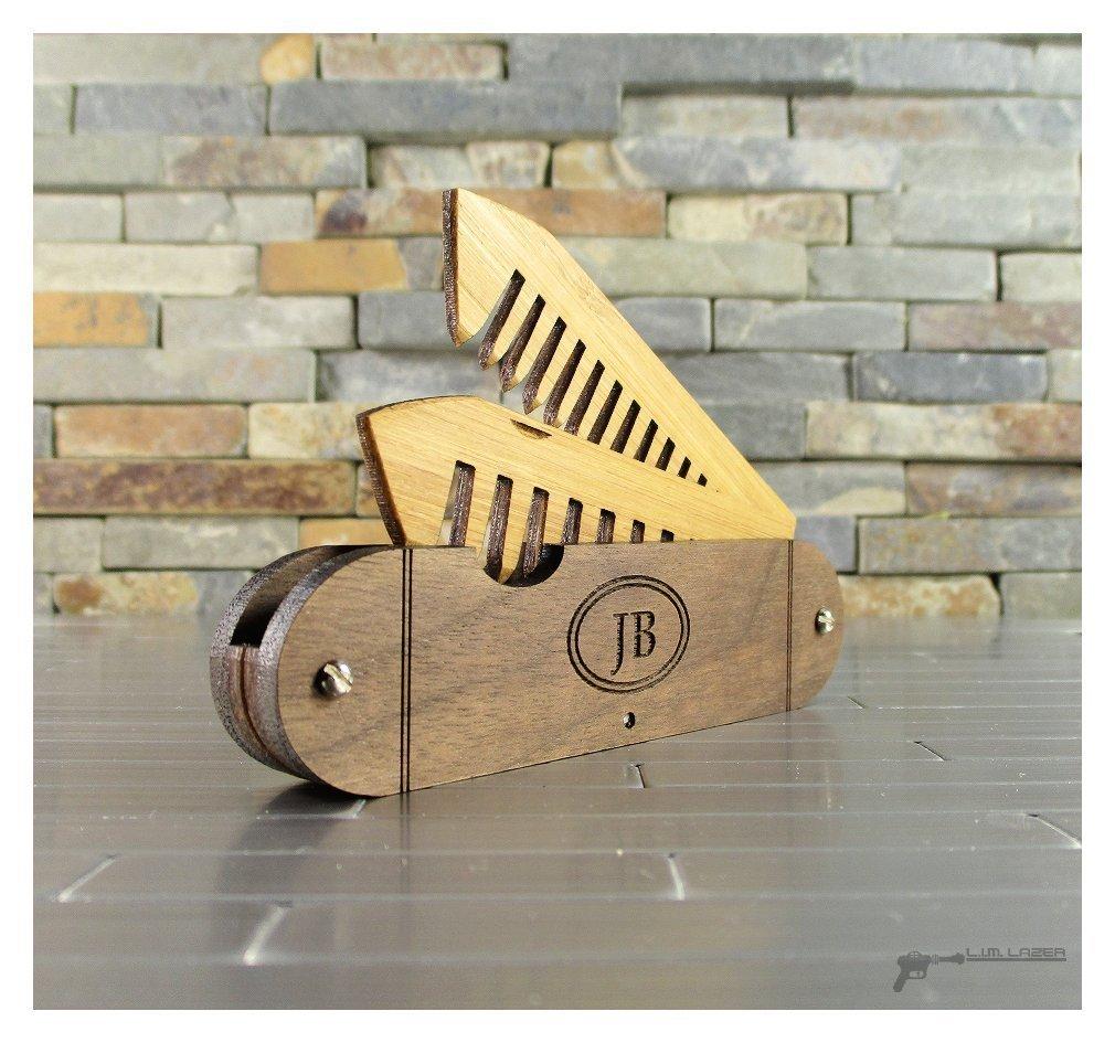 Beard and Mustache Folding Comb, Pocket Knife Style