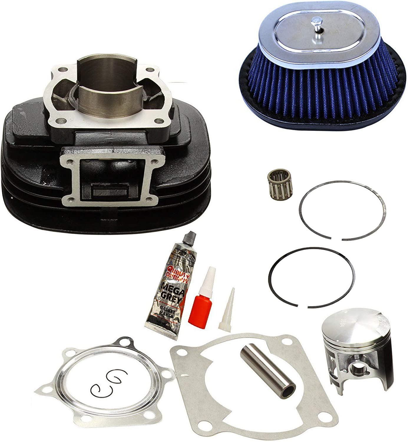 Yamaha Blaster 200 YFS200 Cylinder Piston Gasket Air Filter Top End Kit 88-06
