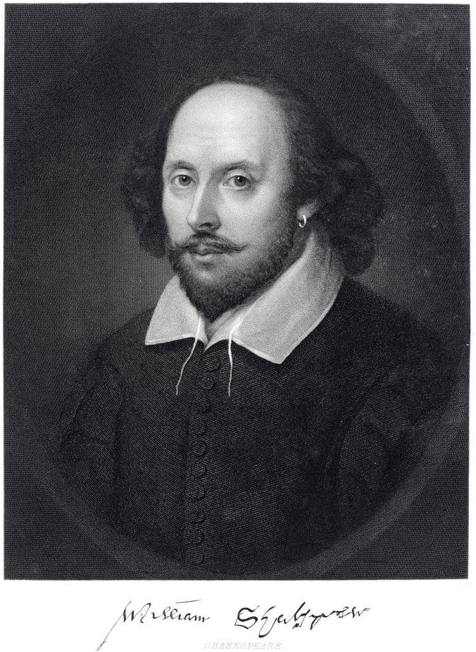William Shakespeare Engraving 1870 Cool Wall Decor Art Print Poster 24x36