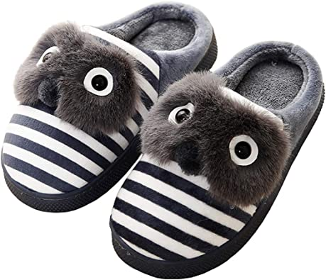Zapatillas de Estar por casa para Unisex Niños Zapatos Algodón de Interior Invierno Zapatilla Peluche de Dibujos ...