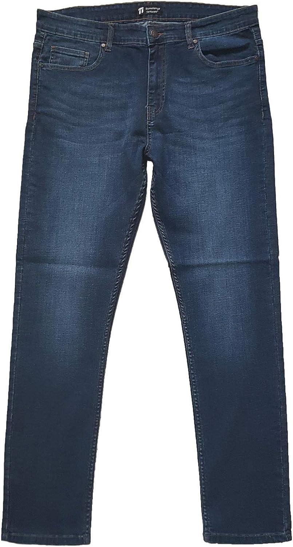TALLA 32W / 32L. Stonehenge Textures Slim Fit Jeans, Pantalones de Mezclilla Ajustados súper cómodos y Modernos para Hombres