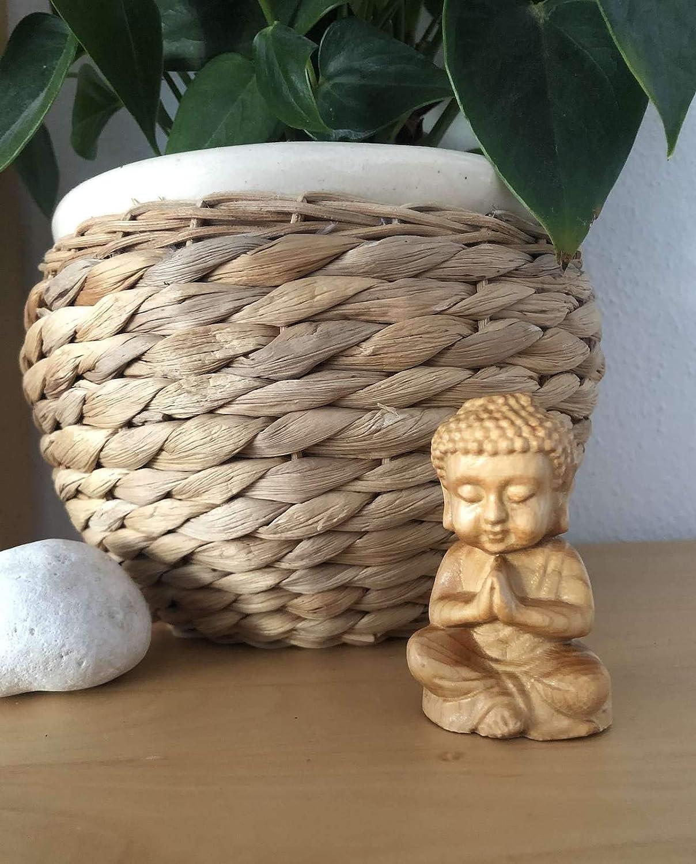 Asia Lifestyle Mini Figuras de Buda 3 Unidades de Regalo Cedro Madera 6,5 cm