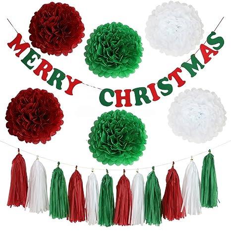 Juego de 22 de mezclar y combinar decoraciones de Navidad Feliz ...