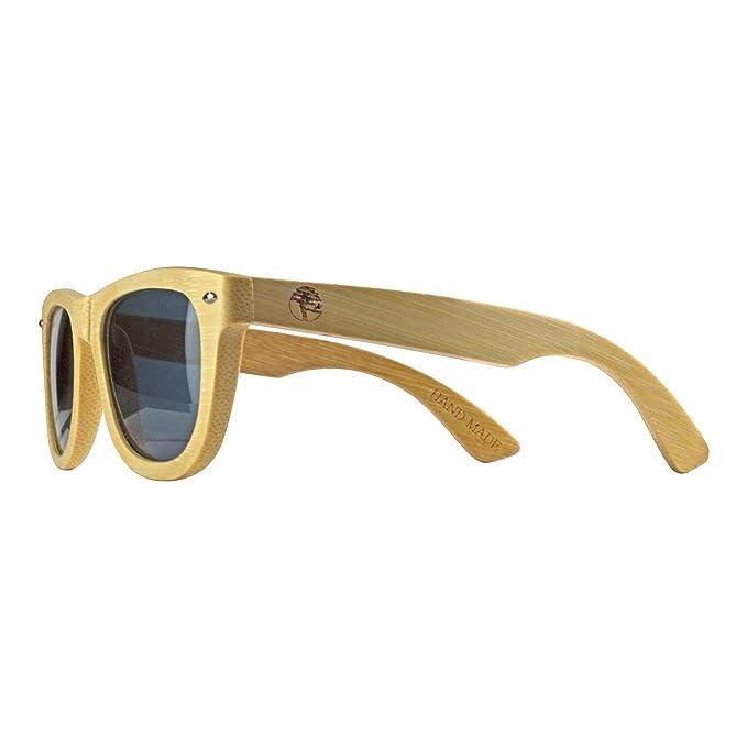 Amazon.com: Gafas de sol de madera maciza hechas a mano para ...
