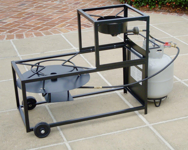 Amazon.com : King Kooker 94/90TKD Portable Dual Burner Propane 30 Inch Patio  Cart : Brewing Burner : Garden U0026 Outdoor