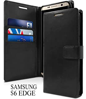 b055c17466 Accessories Innovator Leather Wallet Style Flip Cover for Samsung Galaxy S6  Edge (Black)