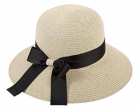 8af972b9559033 Amazon | 麦わら帽子、折りたたみ可能、日除け帽子、レディース、春、夏 ...
