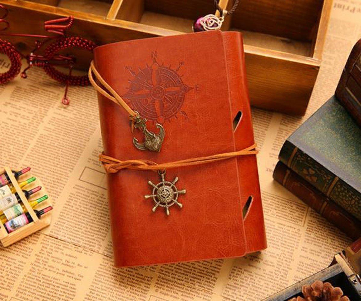 066d7cbd2faab Obling 18.5 13cm Notebook Rétro Carnet de Notes Luxueux Couverture en Cuir  PU Conception de