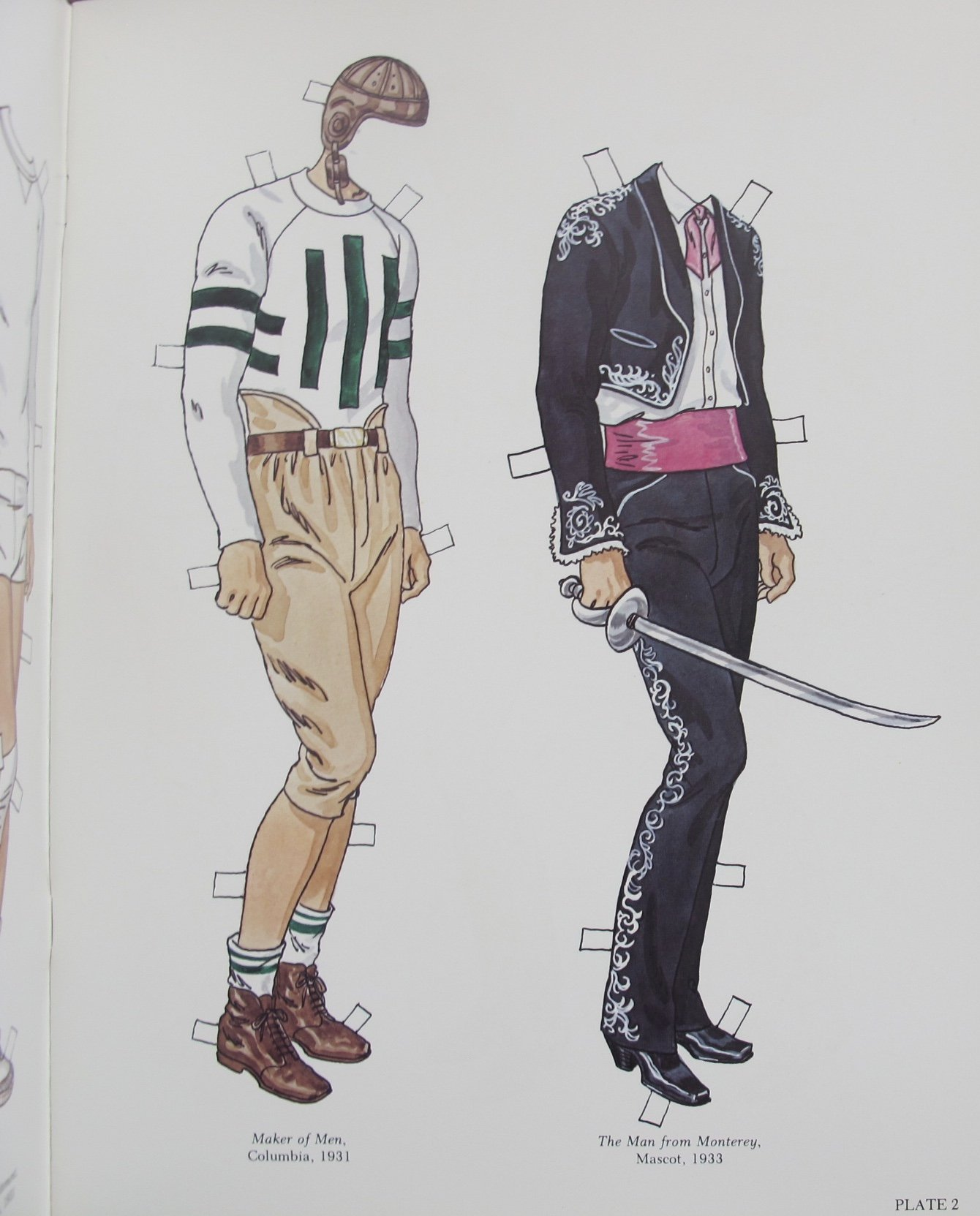 Tom Tierney JOHN WAYNE PAPER DOLLS Book (UNCUT) w 2 Card Stock DOLLS and 31 Card Stock COSTUMES (1980) by Tom Tierney, Dover Publications (Image #2)