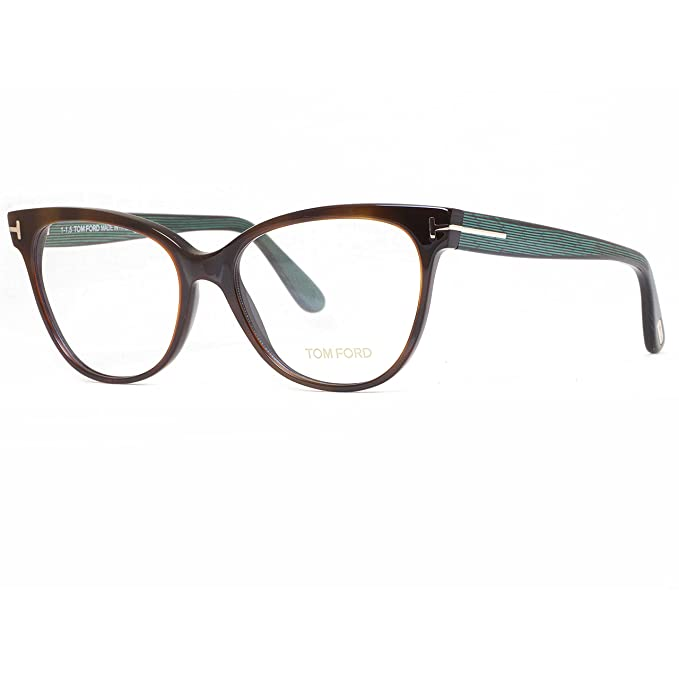 1bf0ee455065e Tom Ford Eyeglasses TF 5291 Eyeglasses 052 Brown and green stripes 55mm   Amazon.ca  Clothing   Accessories