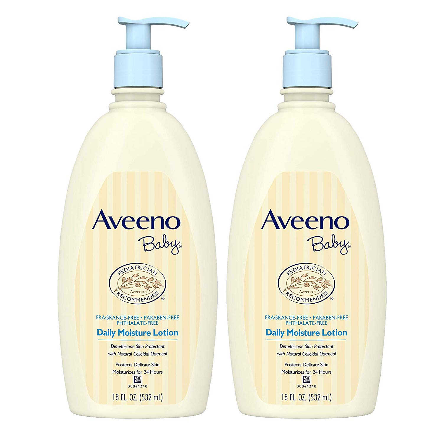Daily Moisture Lotion with Natural Colloidal Oatmeal & Dimethicone, Fragrance-Free, 18 fl. Oz (2 Pack) by Aveeno Baby