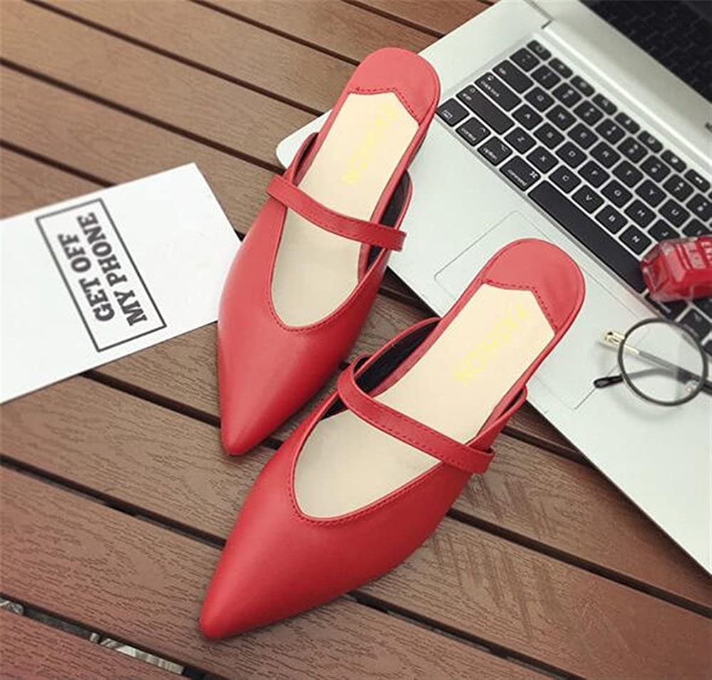 excellent.c Professional Womens Shoes Pointed Toe Flat Shoes Non-Slip Loafers