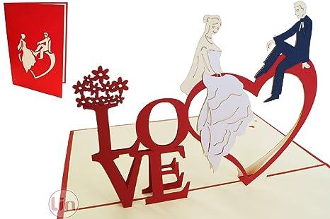 Auguri Matrimonio Non Presenti : Lin pop up biglietti di matrimonio inviti matrimonio 3d auguri