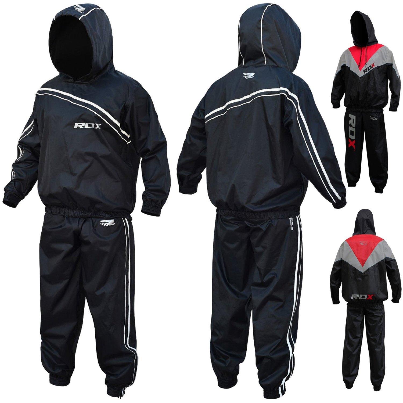 Amazon.com : RDX Non Rip MMA Sauna Sweat Suit Track Weight Loss ...