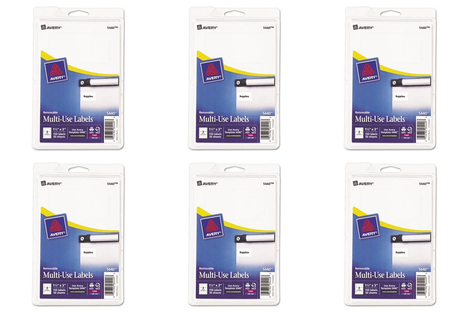 Amazon Avery Removable Print Or Write Labels 15 X 3 Inches