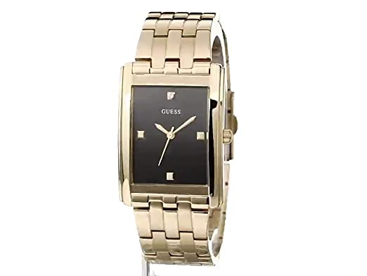 Amazon.com: GUESS Mens U0667G2 Dressy Diamond-Accented Gold-Tone Stainless Steel Dress Watch: Watches