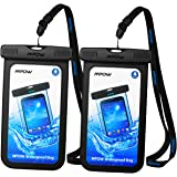 Mpow Universal Waterproof Case, New Type PVC Waterproof Pouch for Outdoor Sports with IPX8 Certified for iPhone, Samsung, Google Pixel, HTC, LG, Huawei [2-PACK]